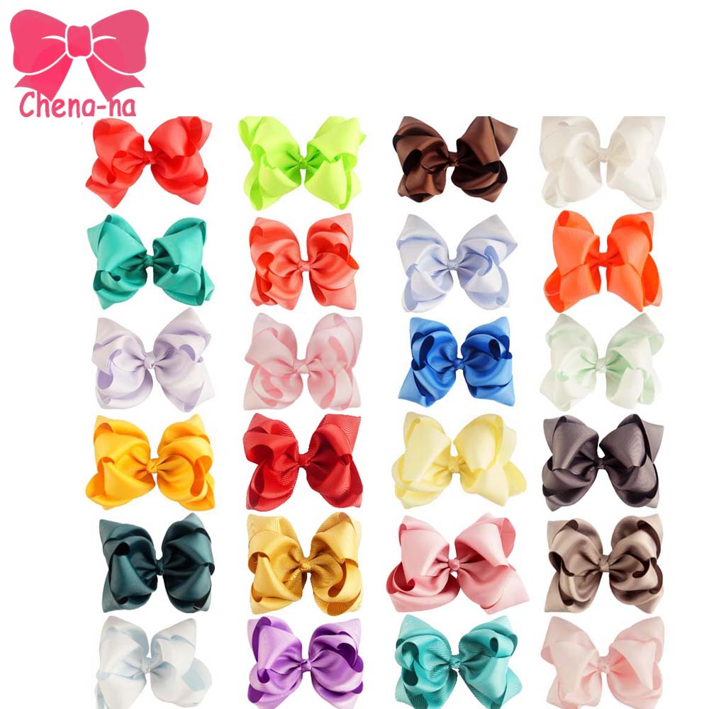 24pcs/lot 5 Double Stacked Bows Grosgrain Ribbon Hair Bow With Alligator Clip For Girls Kids Hair Accessories 2542 3 5 inch grosgrain ribbon hair bow diy children hair accessories baby hairbow girl hair bows without clip 16pcs lot