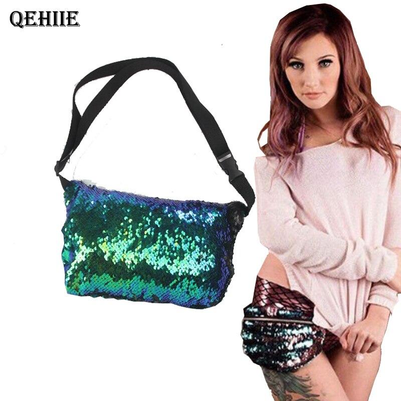 New fashion ladies shoulder bags hand holding sequins mermaid messenger bags multi-functional storage bag messenger tote bag