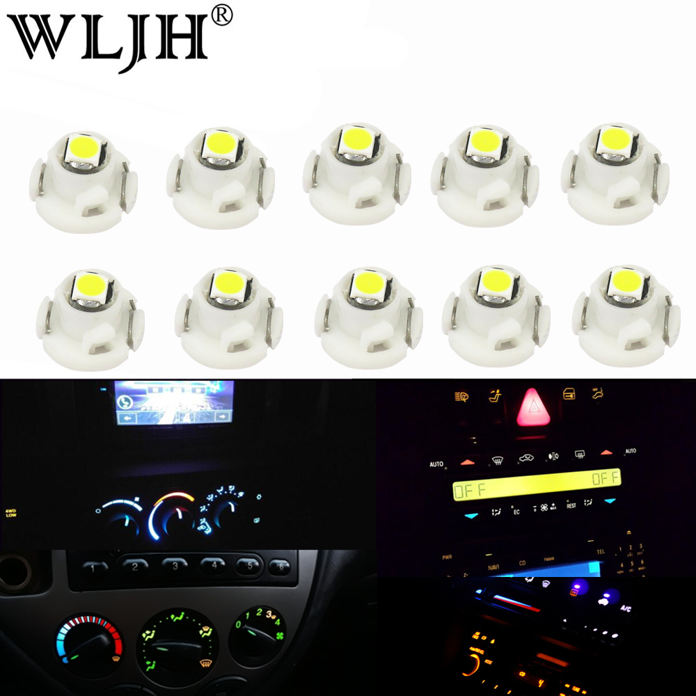 WLJH 10x Neo Wedge Led Light 90010-01122 AC Heater Control Bulb for <font><b>Toyota</b></font> <font><b>Corolla</b></font> 2009-<font><b>2013</b></font>;RAV4 2006-2012;for Matrix 2009-2014 image