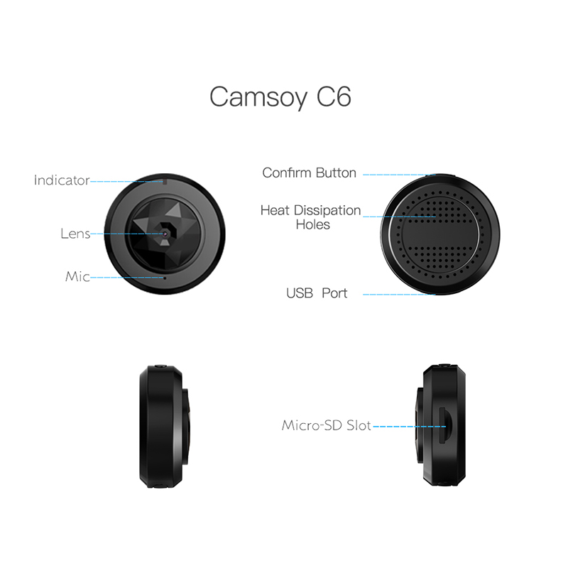 Protable C6 Mini Câmera HD 720 p Night Vision Camera Mini Câmeras de Ação Camcorder DV Câmera de Vídeo Gravador de Voz Micro cartão SD - 4