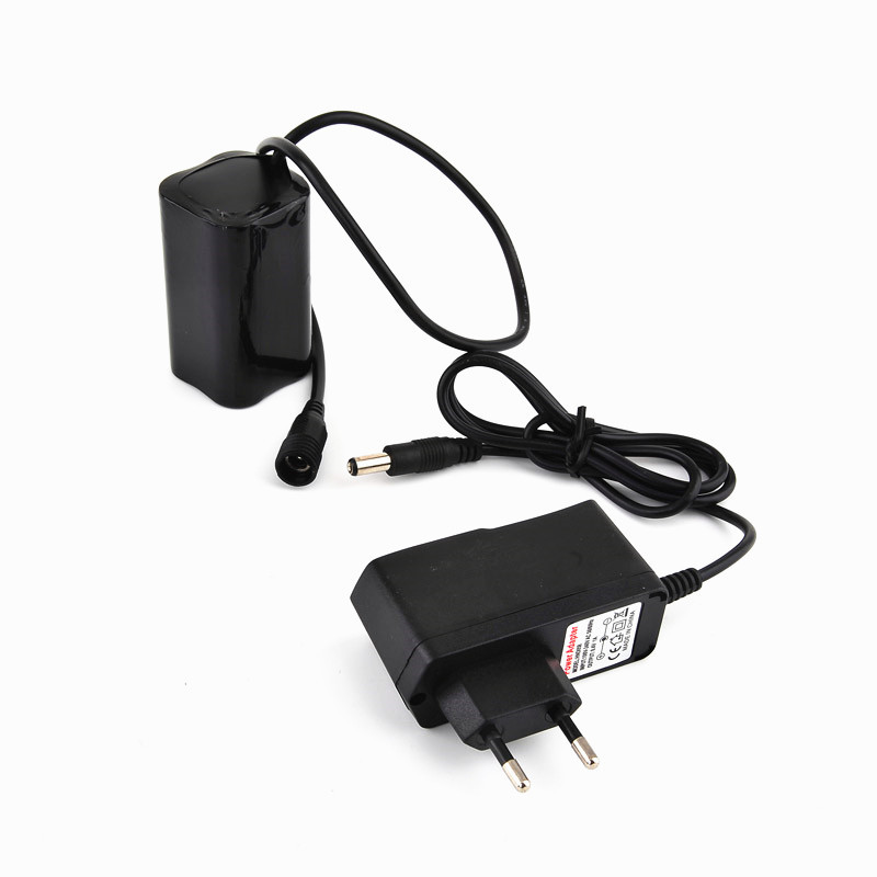 Bike Light Rechargeable 18650 Battery Power Bank for SolarStorm X2 X3 T6 Bicycle Lamps + 8.4V Battery Charger rechargeable 3000mah 8 4v 4 x 18650 2s2p battery pack for bicycle light black