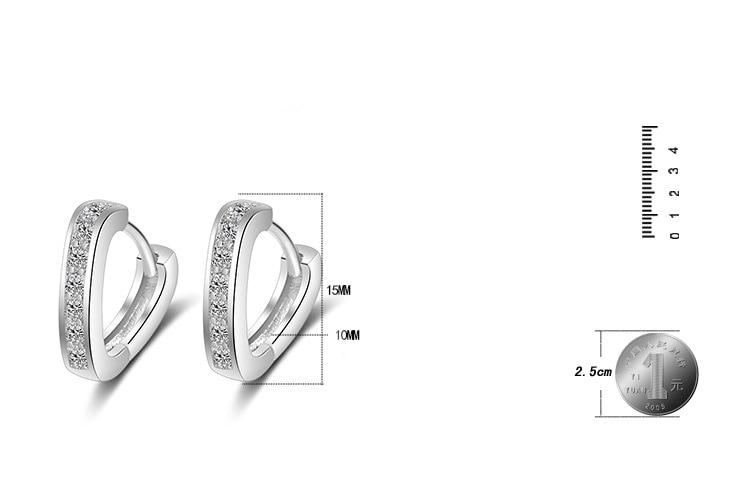 RUOYE Μοντέρνο ασημένιο σκουλαρίκια - Κοσμήματα μόδας - Φωτογραφία 2