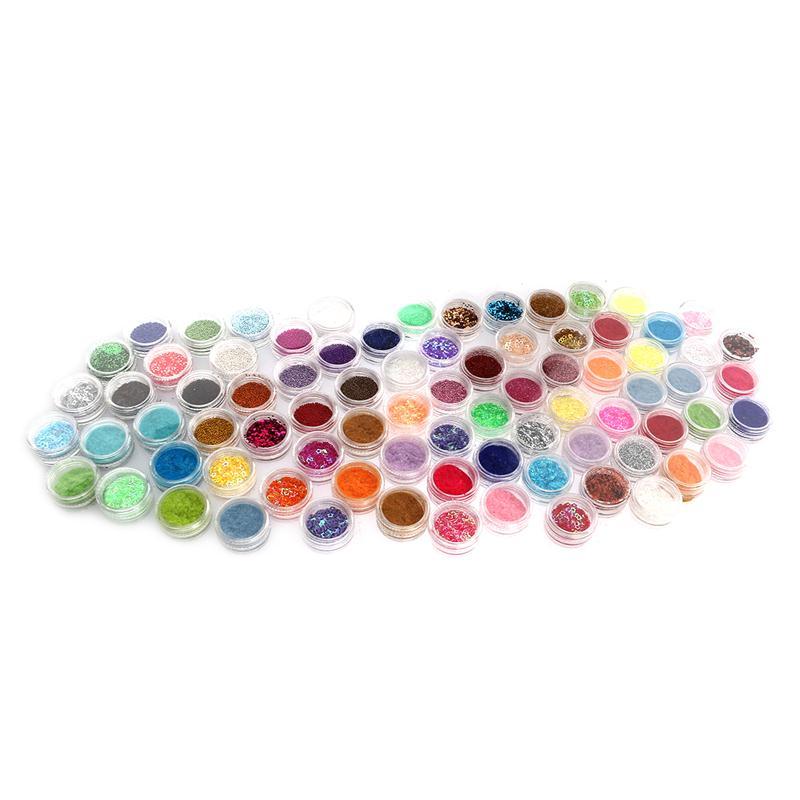 ФОТО 80 Colors DIY Nail Art Glittering Sequins Paillettes Manicure Beauty Decorations