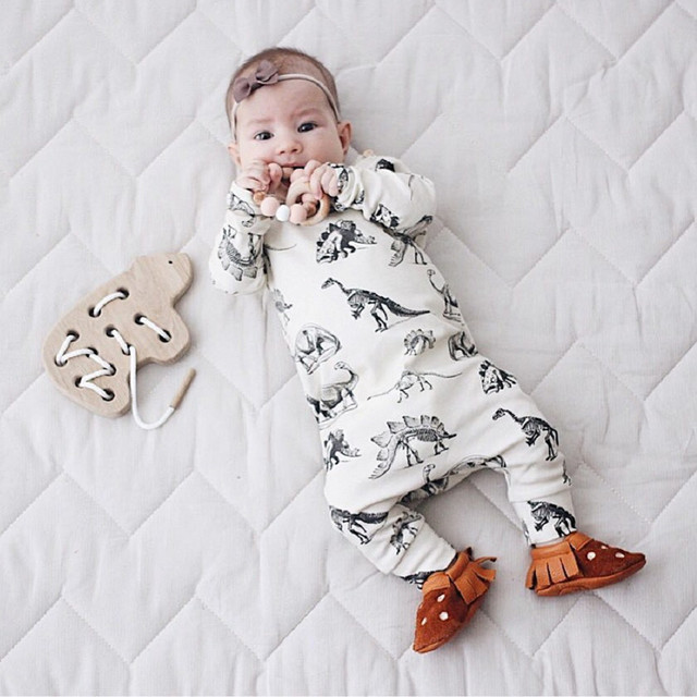 b1f5e8efe2f4 MUQGEW Baby Girl Boy Clothes Newborn Infant Baby Boy Girl Long Sleeve Dinosaur  Romper Jumpsuit Clothes
