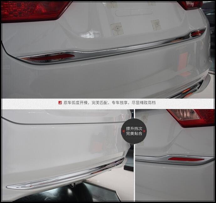 Higher star ABS chrome 1pcs front bumper trim+1pcs rear trunk trim+ 1pcs rear bumper trim For Honda City 2015-2017 neo chrome rear lower control arm lca for honda civic 2001 2005 e2c