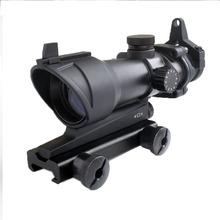 WIPSON gorący bubel tanie polowanie taktyczna luneta celownicza ACOG typ 1 #215 32 czerwona zielona kropka luneta z 22mm góra Airsoft tanie tanio Karabin Czerwona kropka HD30F Black 20mm China Aluminum