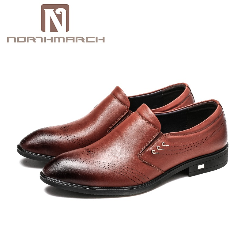 NORTHMARCH Spring Autumn Mens Shoes Genuine Leather Formal Wedding Shoes Luxury Business Dress Shoes Men Loafers Pointy ShoesNORTHMARCH Spring Autumn Mens Shoes Genuine Leather Formal Wedding Shoes Luxury Business Dress Shoes Men Loafers Pointy Shoes