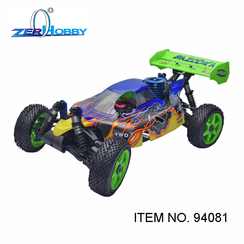 HSP RACING RC CAR TOYS 1/8 BAZOOKA BAJA NITRO POWER 4X4 OFF ROAD READY TO RUN BUGGY 21CXP ENGINE ITEM 94081 hsp racing rc car troian pro 94185top 1 16 scale 4wd off road electric powered brushless buggy car ready to run