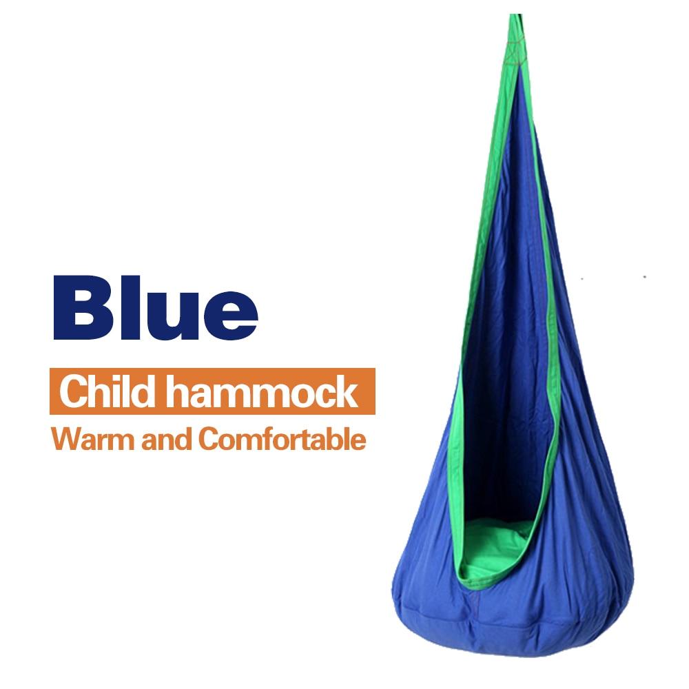 Us 4549 35 Offdzieci Hamak Nadmuchiwane Poduszki Ogrodowy Fotel Wiszący Kryty Odkryty Wiszące Seat Dziecko Huśtawka Patio Hamak Meble Niebieski W