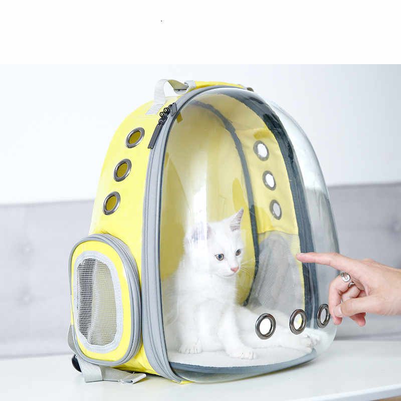 1b3c73a1ea 5 Colors Breathable Small Pet Carrier Bag for dog cat Portable Pet Outdoor  Transparent Travel Backpack