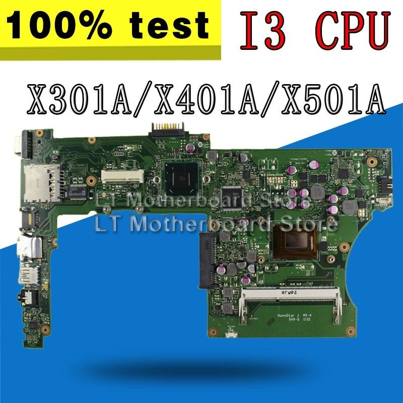 With I3 Cpu HM76 For Asus X501A X301A X401A F401A F501A Laptop Laptop Motherboards REV3.0 Maibboard Motherboard