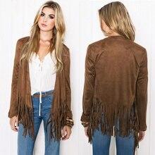 Fashion Women's Casual Long Sleeve Tassel Cardigan Sweater Jacket Coats Outwear Autumn PY3 L4