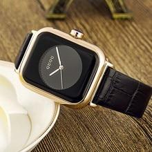 Marea marca mujeres con estilo antiguo Europeo personalidad Reloj Cuadrado Correa de Reloj de cuarzo reloj de la jalea Informal