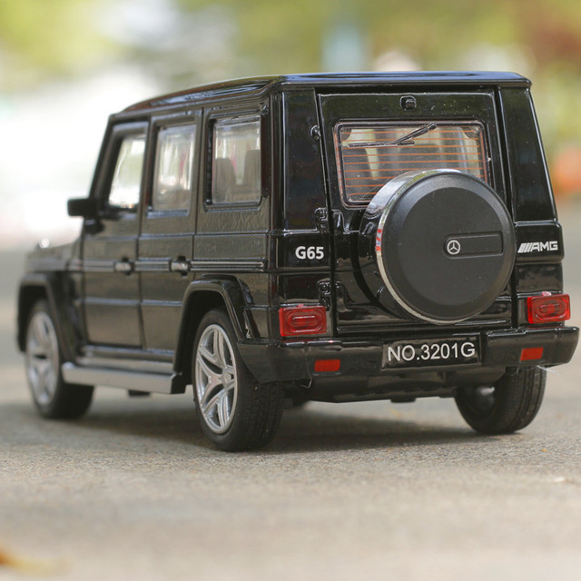 Amg g65 diecast cars toys 1:32 escala tire hacia atrás del coche de metal de aleación de simulación acustóptica modelo de auto colección de cars
