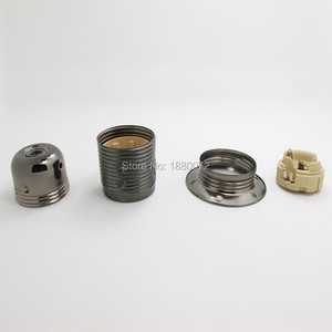 Image 2 - 6 개/몫 에디슨 e27 금속 철 램프 홀더 펜던트 라이트 램프 소켓 램프베이스