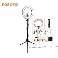 Fosoto RL 18 Photography Lighting Dimmable 240 LEDs 55W 5500K Camera Photo Studio Phone Video Ring
