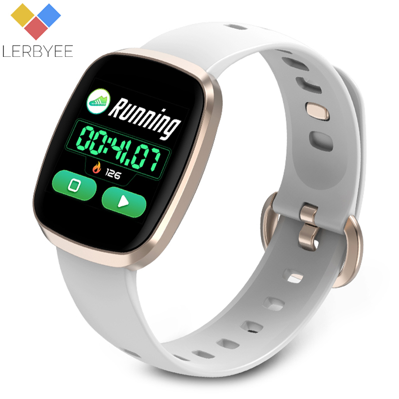 Lerbyee GT103 Smart Watch Heart Rate Monitor Fitness Tracker Control Music Sport Watch Full screen touch for IOS Android