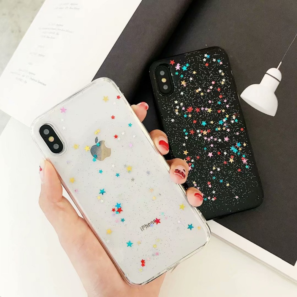 Bling Powder Phone Case For iPhone X XS MAX XR Glitter