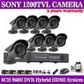 8CH Network DVR Kit 1200TVL CCTV Outdoor SONY CCD Sesnor Security Camera system