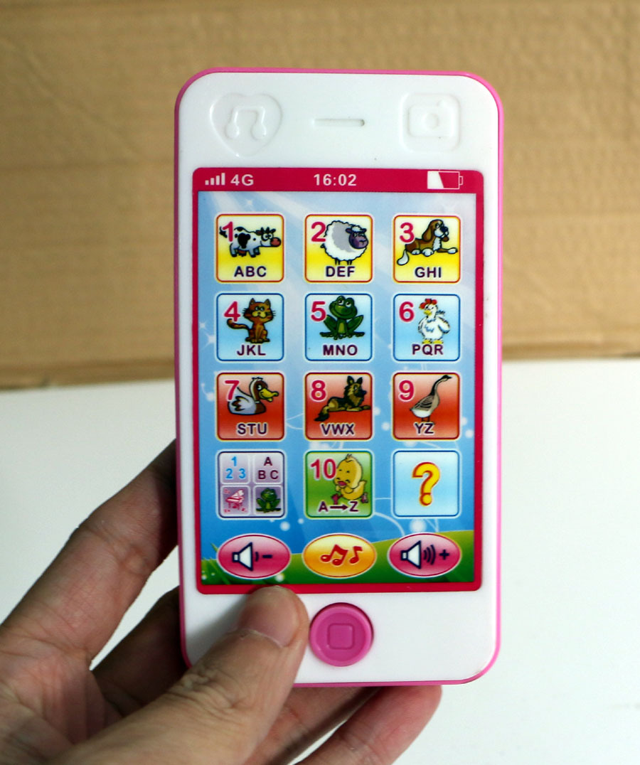English Mobile Phone Touch Screen Baby Toys Fun Children Music