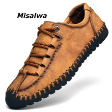 Misalwa Big Size New Spring Loafers Shoes For Men Breathable Handmade Leather Casual Classic Designer Mocassin
