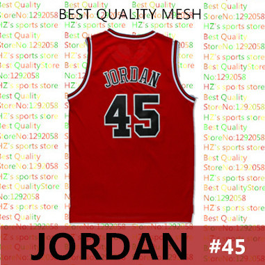 promo code 815c5 ab905 Classics red white MJ jerseys Michael Jordan 45 retro jersey Rev 30  stitched Logos RETRO 45 JORDAN Basketball jersey-in Basketball Jerseys from  Sports ...