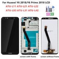 لهواوي Y6 2018 شاشة LCD تعمل باللمس ATU L11 L21 L22 LX1 LX3 L31 L42 لهواوي Y6 Prime 2018 شاشة LCD مع الإطار