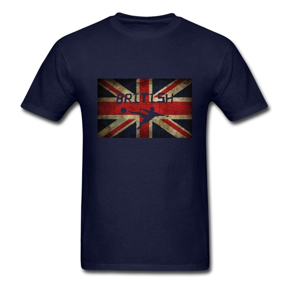 Design t shirt soccer - Grunge Retro Brand Designer Trend Men S Uk Flag Soccer T Shirt Mens Team Soft Cotton Crew Neck Leisure Xxxl Male Cheap T Shirt