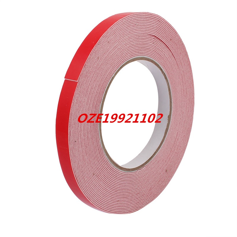 10M Length x 12mm Width White Dual Sided Self Adhesive Sponge Foam Tape for Car 10m 40mm x 1mm dual side adhesive shockproof sponge foam tape red white