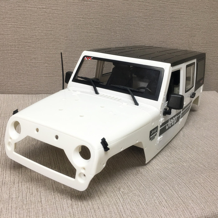 1PC Simulation Wrangler Car Shell 313mm Wheel Distance Hard Shell ABS Body Shells with Interior for 1:10 RC Jeep Car Parts 1pc interior