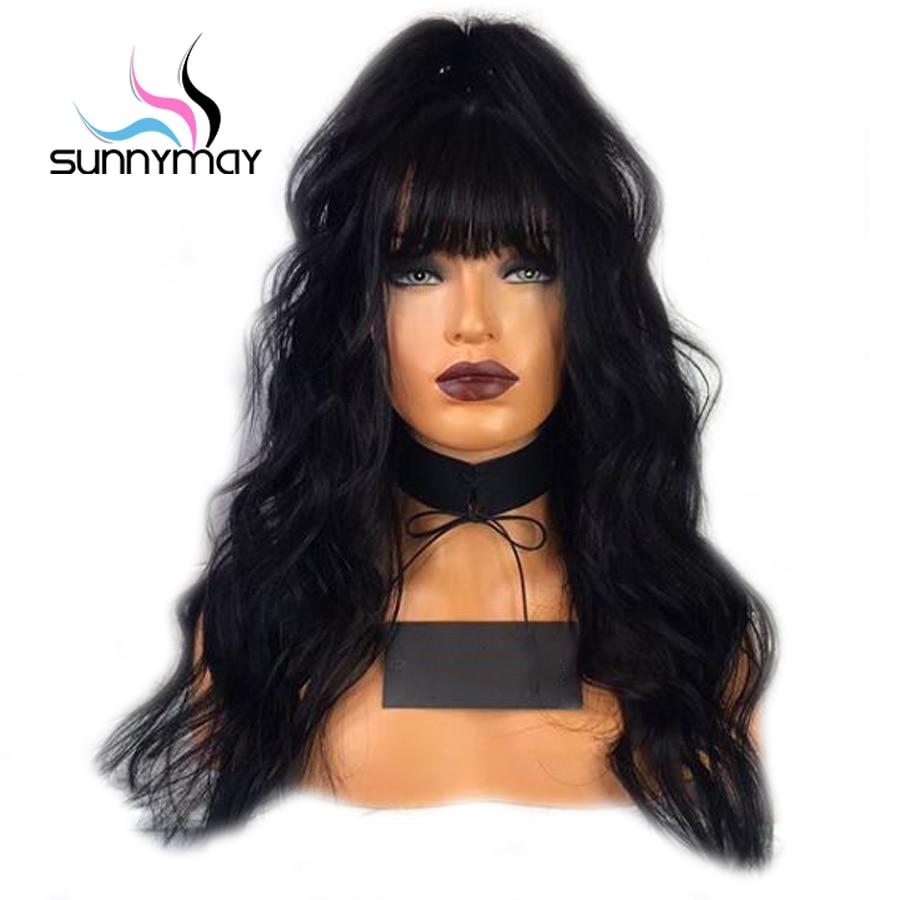 Sunnymay Remy Bangs Rambut Manusia Rambut palsu 130% Ketumpatan - Rambut manusia (untuk hitam)