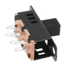 10 шт. высокая ручка 6 Pin 3 положения DPDT панель слайд-переключатель 0.5A 50V DC