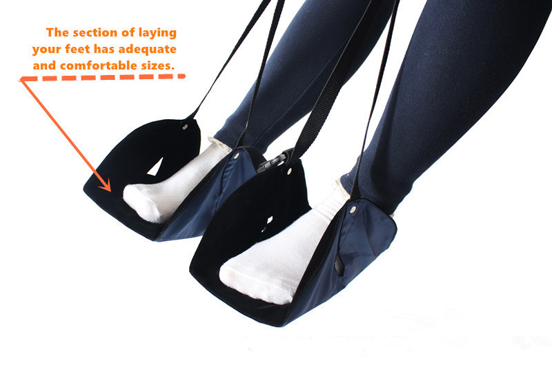 ARRIES Airplane Foot Relief Hammock Rest Stand For Office Feet Rest Indoor travel dedicated lazy people pedal foot rest for airplane high speed railway