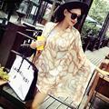 Nueva Dama de La Moda Bufanda de Seda Bufandas y Chal Playa SC3015 Echarpe Mujeres Pañuelos de Seda de Lujo Del Abrigo de Diseñador Más Tamaño
