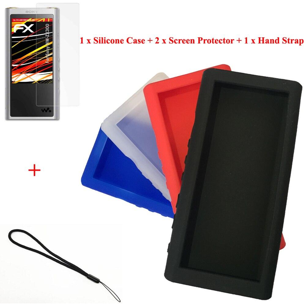 De course Chameau Silicone Gel Peau Cas pour Sony Walkman NW-ZX300 NW-ZX300A ZX300 Couverture En Caoutchouc Protecteur D'écran Dragonne