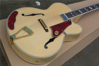 free shipping New Top Quality musical instrument Natural maple wood L5 hollow body jazz guitar with case 1 2