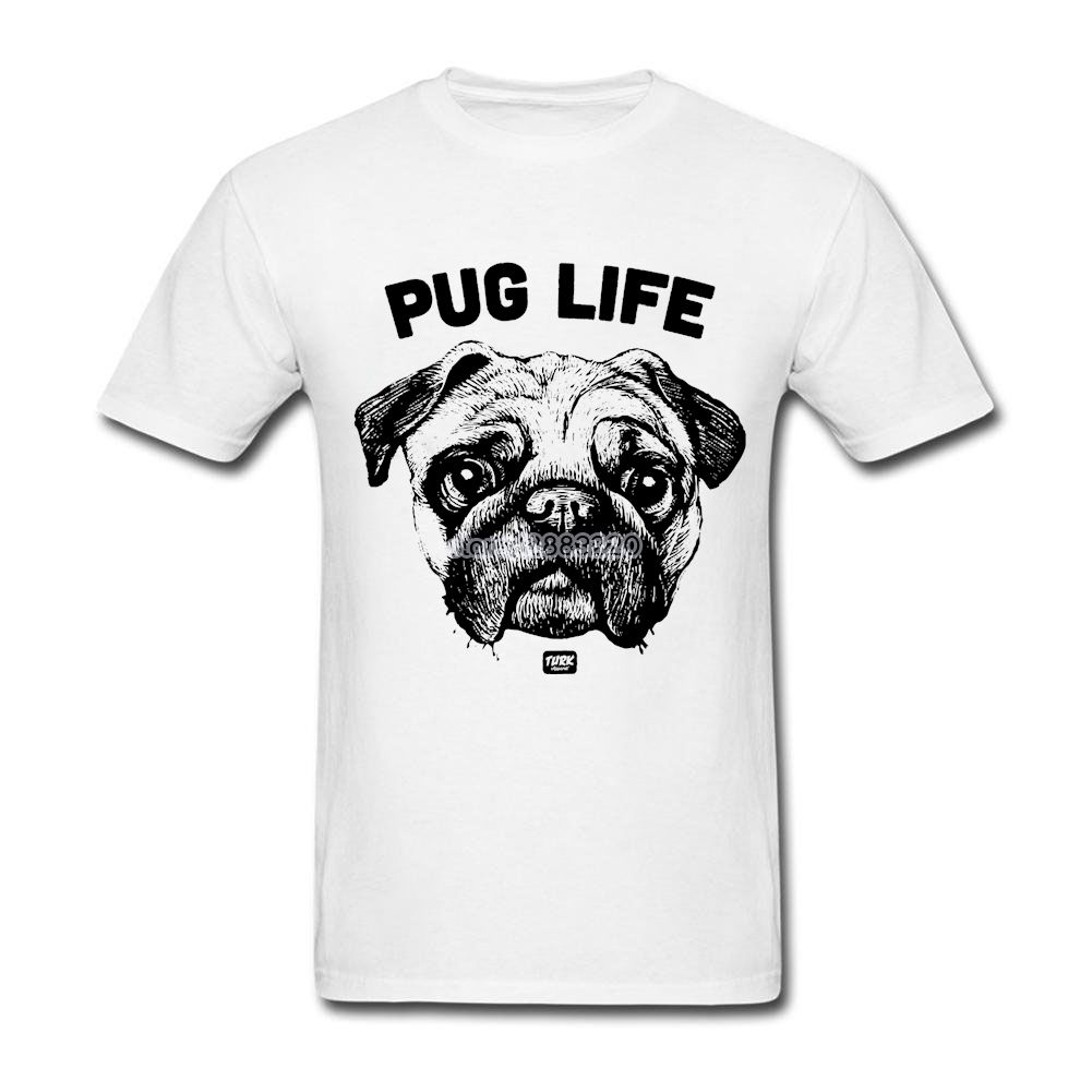 Design your own eco-friendly t-shirt - 3xl Pug Life Dog Shirt Personality Boy Tee Shirts Short Sleeve Thanksgiving Day Custom Design Your Own T Shirt