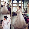 2015 старинные молнии с длинным рукавом свадебное платье кружева на заказ Большой размер греческий свадебные платья с рукава весной свадебные платья