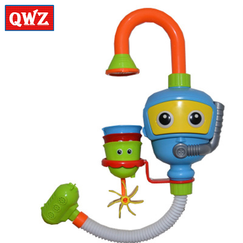 QWZ Lovely Funny Cartoon Toy Kids Baby Bathing Classic Spray Toys For Children Shower Game Toy Summer Playing With Water Gifts