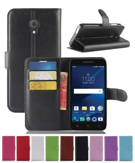 US $5 14 |Magnetic PU Leather Wallet Flip Case Cover For Alcatel Raven LTE  A574BL-in Wallet Cases from Cellphones & Telecommunications on
