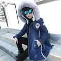 2017 Новая Мода Дети Девушки Джинсовой Куртке Детей Плюс Толстый Одежда Мода Длинные Теплые Пальто И Пиджаки Одежда для Холодной Зимы