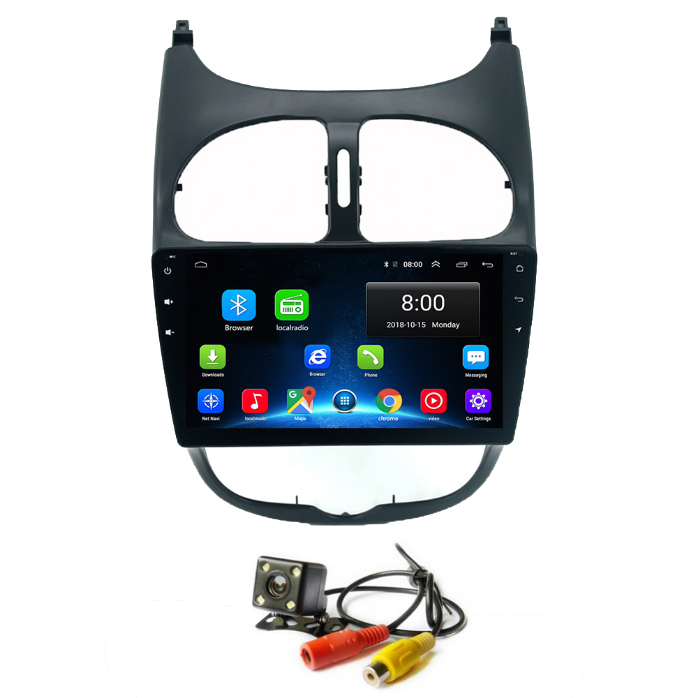 Android 8.1 Car Head Unit Player GPS Radio for <font><b>Peugeot</b></font> <font><b>206</b></font> 2000-2016 Stereo Viedo Wifi Bluetooth Multimedia System GPS Player image