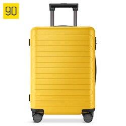 XIAOMI 90FUN PC чемодан Красочные вести Spinner колёса Сумки на колёсиках TSA замок бизнес путешествия отпуск для женщин мужчин