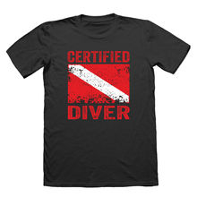 2018 Summer Style Fashion Certified Diver - Mens Gift Scuba Dive Divings Clothing Cool Giftw Tee shirt Classic