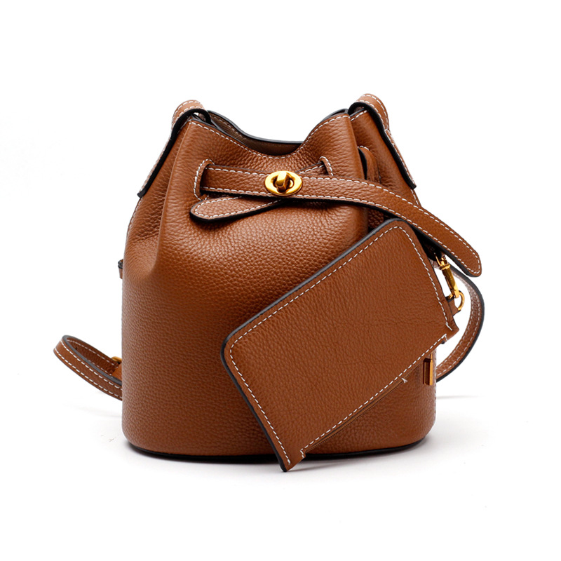 Bucket Shoulder Bags For Women 2018 Luxury Handbags Women Bags Designer Small Genuine Leather High Quality Crossbody Bags New hongu genuine leather crossbody shoulder bags for women designer handbags high quality small square casual side purse