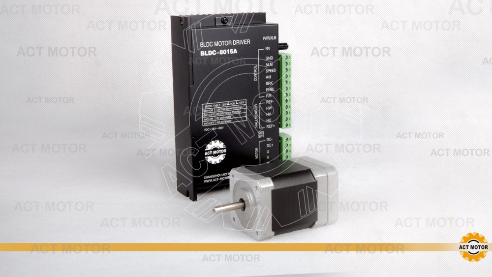 Free Ship From Germany!ACTMotor 1PC Nema17 Brushless DC Motor 42BLF02 24V 52W 4000RPM 3Ph Single Shaft+1PC Driver BLDC-8015A 50V bldc motor driver controller 120w 12v 30v dc brushless motor driver bld 120a