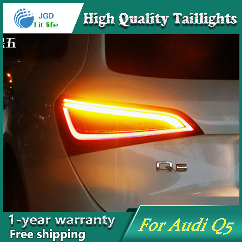 Car Styling Case for Audi Q5 2009-2015 Taillights Tail lights LED Tail Lamp Rear Lamp DRL+Turn Signal+Brake+Reverse for vw volkswagen polo mk5 6r hatchback 2010 2015 car rear lights covers led drl turn signals brake reverse tail decoration