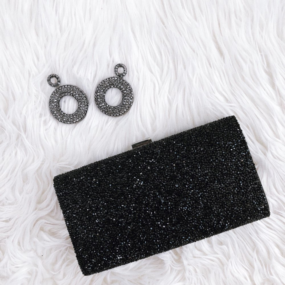 FGGS-Woman Evening Bag Women Diamond Created Rhinestone Clutch Crystal Day Clutch Wallet Wedding Purse Party Banquet, Silver