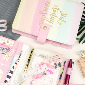 Image 5 - Jamie Notes Cute Pink Leather Binder Notebook A5A6 2019 Planner Sweet Girly Diary Book Office & School Gift Stationery Supplies
