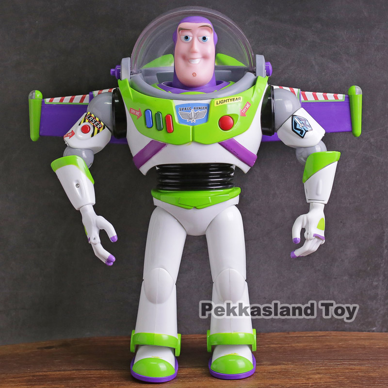Toy Story Talking Buzz Lightyear Star Command PVC Action Figure Collectible Model Toy with Light 4pcs set anime toy story 3 buzz lightyear woody jessie pvc action figure collectible model toy kids gifts 14 5 18cm zy468